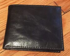 BRAND NEW TASSO ELBA BLACK DOUBLE BILLFOLD WALLET With REMOVABLE CARD CASE