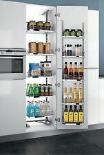 Kitchen Chrom Pull-Out Tall Cabinet Pantry Storage Organizer Adjustable Shelves