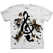 MUSIC KITTENS T-Shirt The Mountain Funny Cat Treble Clef Note S-5XL NEW!