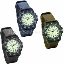 Military Army Tactical Mens Luminous Watches Nylon Band Sport Quartz Wrist Watch