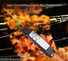 Kitchen Foldable Digital Food Probe Barbecue BBQ Meat Thermometer Cooking Tool