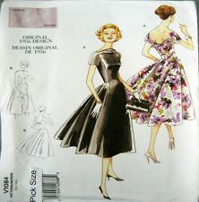 Vogue Sewing Pattern 1084 Ladies Vintage Model Retro 50s Full Dress Pick Size