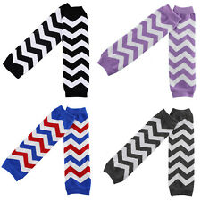 Baby Toddler Girl Kid Wavy Stripe Cotton Flower Socks Tights Arm Leg Warmers