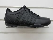 MENS K-SWISS ARVEE 1.5 ALL BLACK LEATHER TRAINERS (02453-001-M)