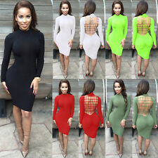 Women Bandage Bodycon Dress Criss Cross Sexy Clubwear Party Dresses