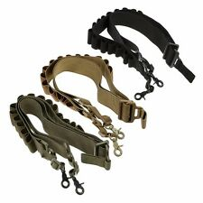 Tactical Heavy Duty Shotgun Shell Sling 12Ga. 20Ga. Ammo Holder Bandolier Belt