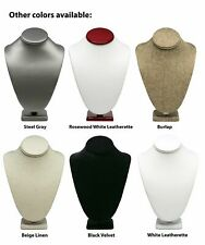 Novel Box™ Necklace Jewelry Display Bust Stand in Various Colors/Sizes