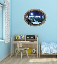 Porthole Spaceship Space Window ALIEN PLANET #1 OVAL Wall Sticker Decal Graphic