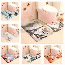 Eiffel Tower Coral Shell Bath Non-Slip Soft Carpet Bathroom Toilet Rug Mat  Case