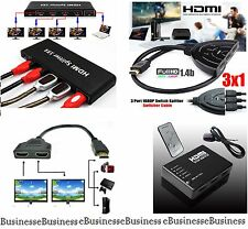 HDMI Splitter PORT Switch Selector 1080PHD Hub Cables HDTV SKY Box Xbox STB PS3