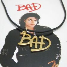 Michael Jackson MJ/ BAD Style Pendant / String Chain Necklace