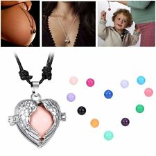 Women Sweet Angel Wing Locket Pendant Pregnancy Necklace Bell Ball Fashion Gifts