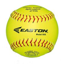 NEW Easton 888 Leather Neon Softball Ball   from Rebel Sport