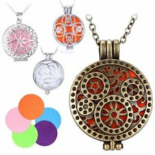 Vintage NEW Charm Locket Fragrance Essential Oil Aromatherapy Diffuser Necklace