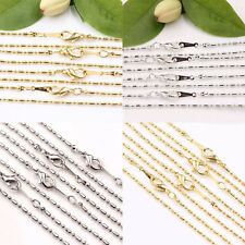 2/10Pcs 18KGP Copper Chain Lobster Clasp Necklace Jewelry Findings Length 43CM