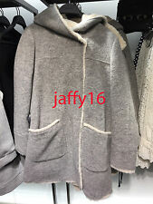 ZARA WOMAN FLEECE-LINED COAT GREY MARL XS-XXL REF. 1255/259