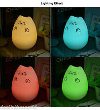 LED USB Cute Cat Night Light Change Color Silicone Bedroom Hit Beat Lamp