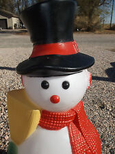 "Vintage 42"" FROSTY SNOWMAN Christmas Lighted Blow Mold Yard Decor"