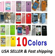 Colorful Full Body Screen Film Protector Case Cover Skin For iPhone 4 4S SP