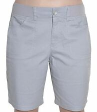 Gloria Vanderbilt Kristine Bermuda Shorts Womens Cotton Stretch Ribbed Waistband