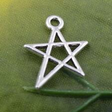 Wholesale 25pcs/50pcs/100pcs tibet silver little Pentagram charm pendant 18x13mm