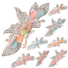 Vintage Women Girl Crystal Butterfly Bowknot Hairpins Hair Accessories Hair Clip
