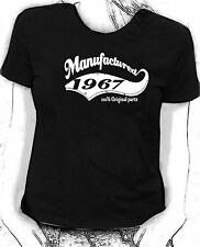 """Manufactured in 1967"" 100% original parts - Birthday humour Skinni fit  t-shirt"