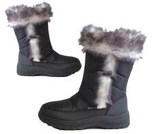Ladies Button Classic Fur Snow Winter Warm Rain Casual Mid Calf Boots
