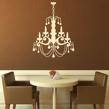 Classic Candle Chandelier Elegant Dining Room Wall Stickers Home Decor Art Decal