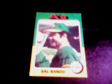 1975 Topps Sal Bando Oakland Athletics #380 Baseball Card