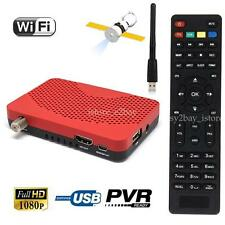 HD DVB-S2 DVB-S Digital Satellite Wifi Key Tuner Receiver TV BOX Record Playback
