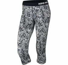 NWT WOMENS NIKE PRO DRI-FIT HEIGHTS VIXEN CAPRI BLACK GRAY XS,S,M,L $45 MSRP