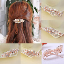 1Pc Fashion Women Crystal Flower Butterfly Barrette Hair Clip Elegant Hairpin