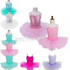 Toddler Girl Ballet Dress Kid Leotard Tutu Skirt Dance Wear Perform Costume New