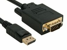 Displayport Male to VGA Male (15-Pin) 28AWG Cable Gold Connectors 3Ft - 15Ft