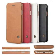 Genuine Luxury Leather Flip Wallet Card Slot Cover Case For iPhone 7 7 Plus 6S 6