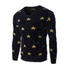 Stylish Men Sweaters Long Sleeve Casual Knitwear Crew neck Pullover Tops NEW
