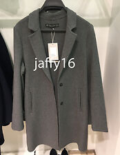 ZARA WOMAN COAT WITH CONCEALED SEAM DARK GREY XS-L REF. 1255/250