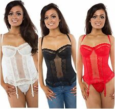 Sexy Lingerie Lace Basque/Underwear White, Black, Red, Ivory