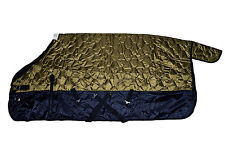 """420D Quilted Winter Horse Stable Blanket Medium Weight-Olive Green, 74"""" - 78"""""""