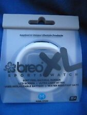 Brand New  Breo XL Sports Watch White Water Resistant Rubber Strap - Size M