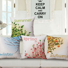 Four Seasons Cushion Cover Bed Sofa Car Decor Throw Home Sweet Pillow Case Gift
