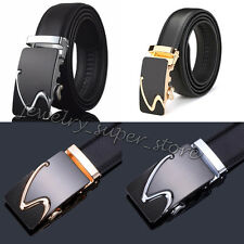 Charm Men Leather Gold Silver Automatic Buckle Belts Waist Strap Belt Waistband