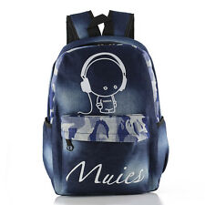 Unisex Canvas Schoolbag Travel Backpack High School Student Teen Girl Laptop Bag