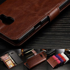 PU Leather Wallet Stand Cover Shockproof Case for Samsung Galaxy Series phones