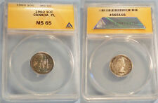 1960 ANACS PL MS65 CANADA DIME 10c PROOF-LIKE MS 65