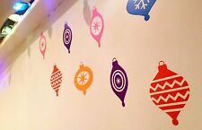 Cool Retro Christmas Bauble decoration Vinyl Wall Decal Stickers