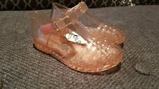 New Old Navy Toddler Girls Pink Glitter T-Strap Jelly Sandals 5 6 8