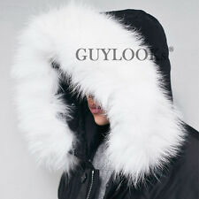 Real Rich White Raccoon Fur Mens Black Duck Down Padding Parka Jacket By Guylook