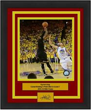 Cavaliers Kyrie Irving NBA Finals Game Winning 3 Photo Engraved Auto Signature